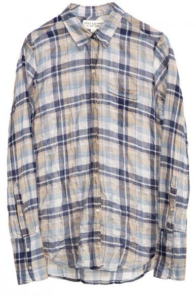 Nili Lotan Indigo Stripe Shirt