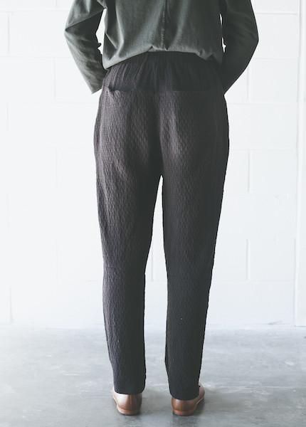 Black Crane Quilt Pant