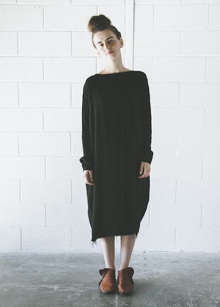 Black Crane Slim Dress