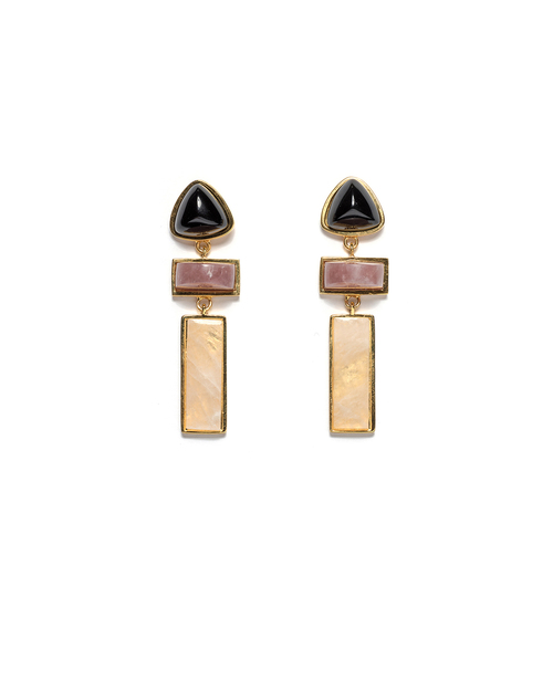 Lizzie Fortunato Villa Earrings in Gold