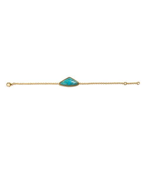 Lizzie Fortunato Triangle Bracelet in Teal