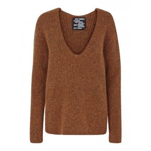 JUST FEMALE VOICE KNIT SWEATER