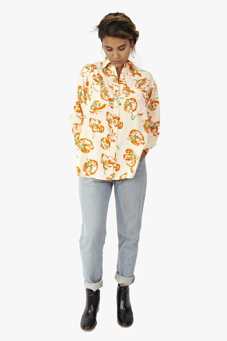 Carleen Big Shirt Poppy