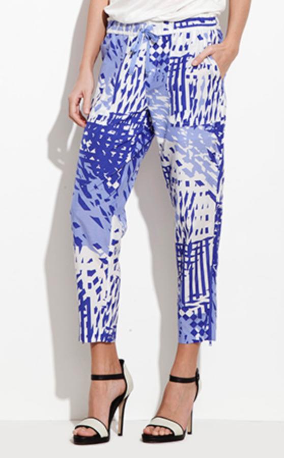Theonne violet printed pants