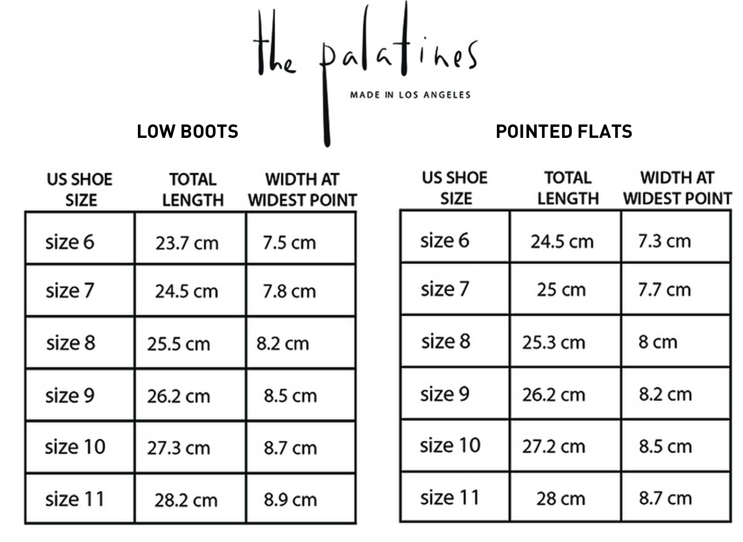 Palatines-sizechart