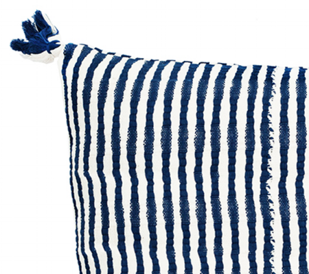 Archive New York Antigua pillow - Dark Teal Blue