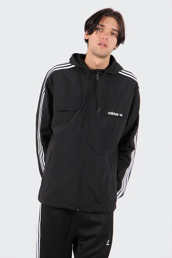0779ba7f60c0 Adidas Originals 3 Stripe Windbreaker - Black. sold out