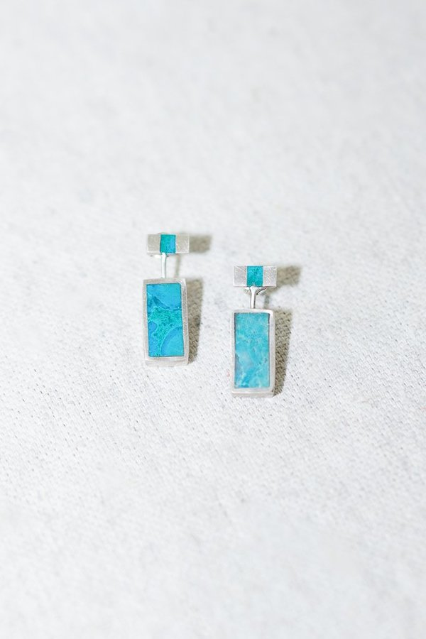 Young In The Mountain Passage Earrings with Chrysocolla