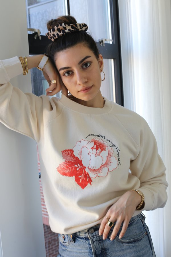 Ganni Lott Isoli Sweatshirt, Rose