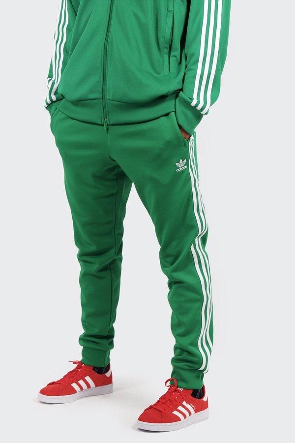 check out 5175c 8f08f Adidas Originals Superstar Track Pants - green