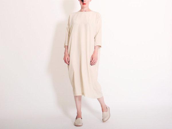 Evam Eva Sueded Silk Dress - Antique White  08b25f6a2