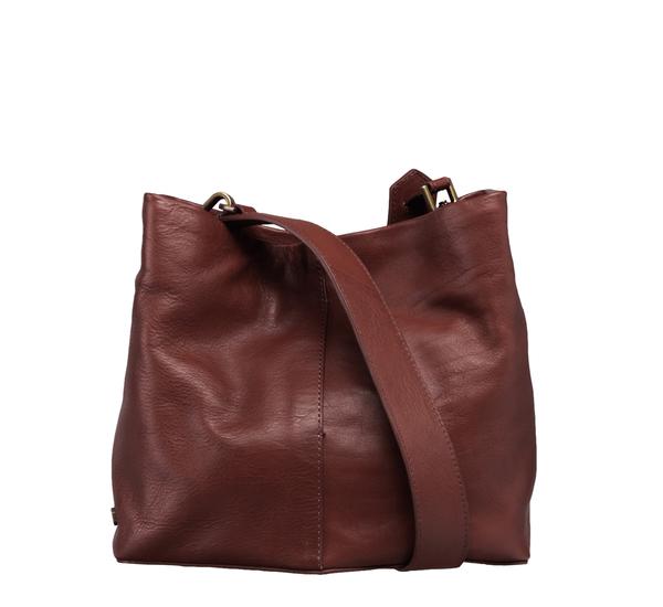 Ro Small Burgundy Galleon Bucket Bag