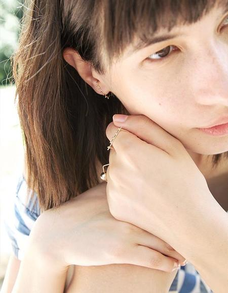 A.M Thorne Granule Staple Earring