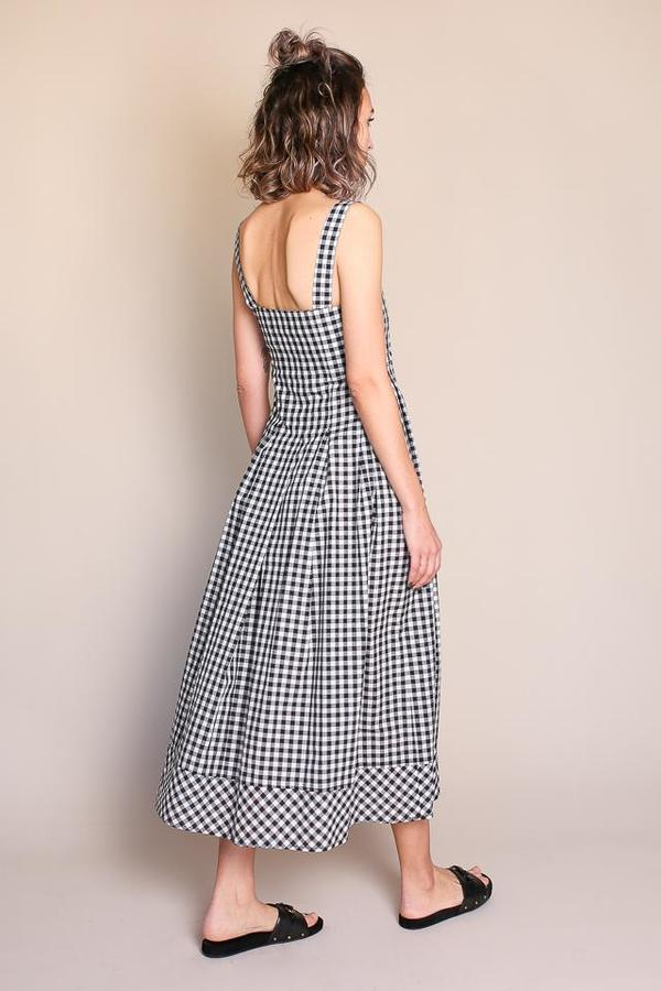 Caron Callahan Milo Dress in Black and White Gingham ...