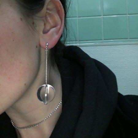 Giselle Gatsby Sphere Lucite Drop Earrings
