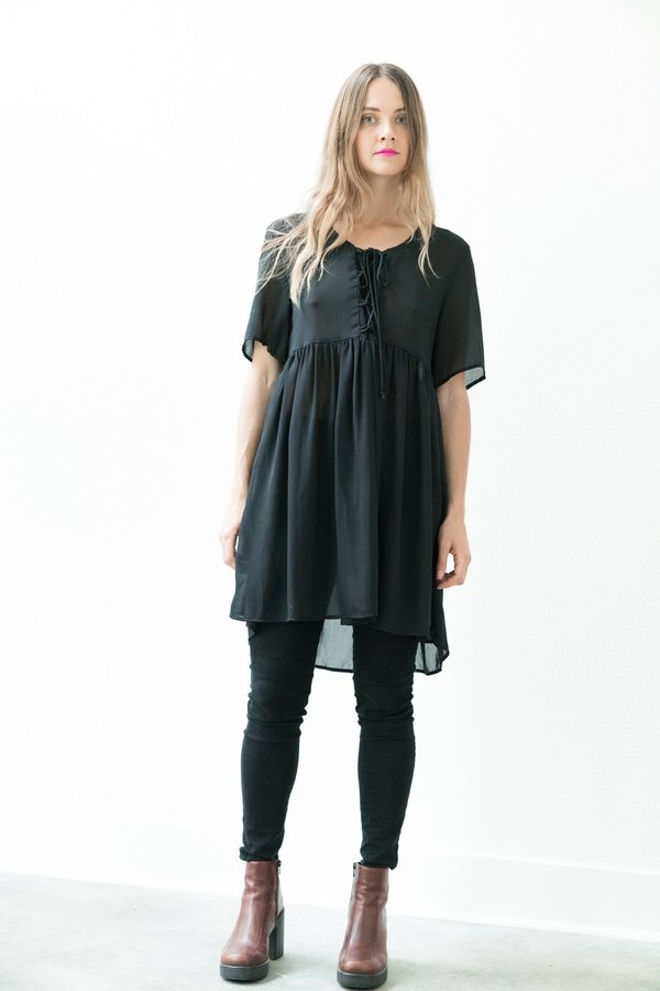 Baby Doll Black Lace Dress