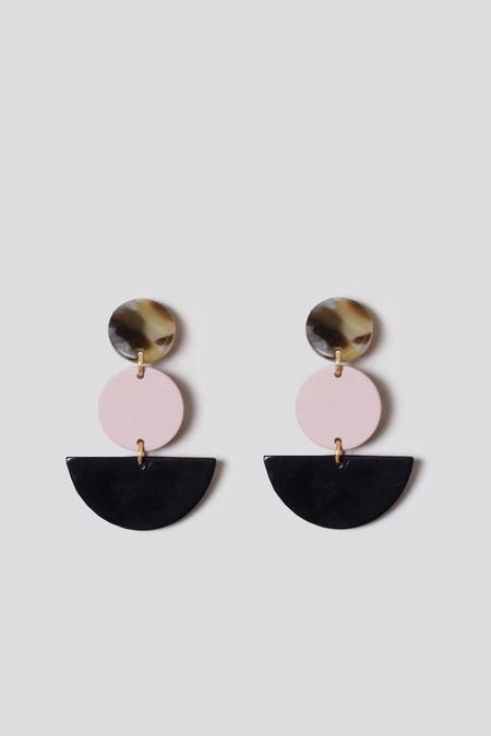 Rachel Comey Neale Earring in Pink Black