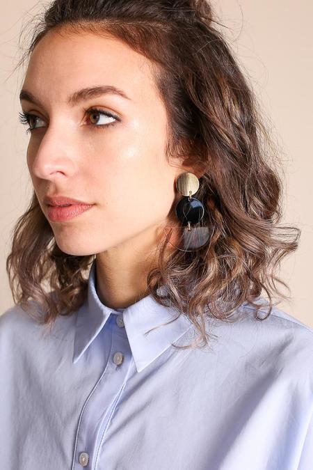 Rachel Comey Neale Earring in Shell Clear