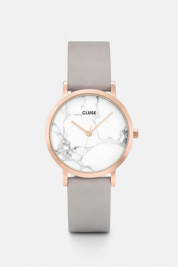 Cluse Watches La Roche Petite Rose Gold White MarbleGrey on Garmentory