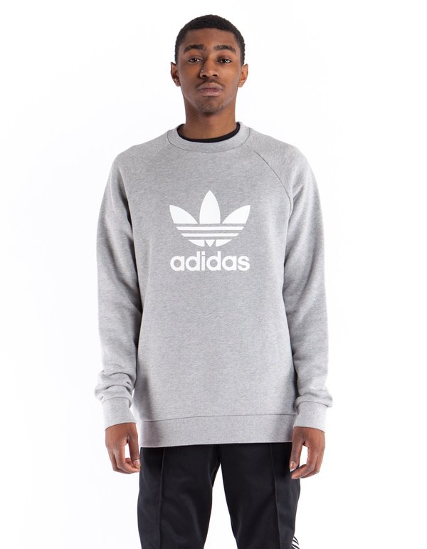 b49cdefaf853 Adidas Trefoil Warm-Up Crew - Medium Grey Heather. sold out