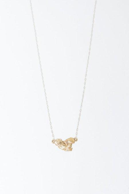 Blair Lauren Brown 24K Raw Gold Nugget Pendant Necklace