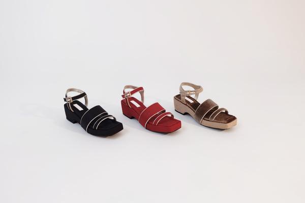 Suzanne Rae Piped Platform Sandal