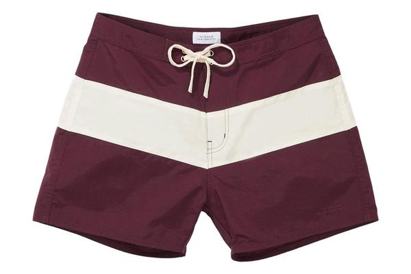 26b9ebb814 Saturdays NYC Grant Boardshort - Dark Mauve Ivory | Garmentory
