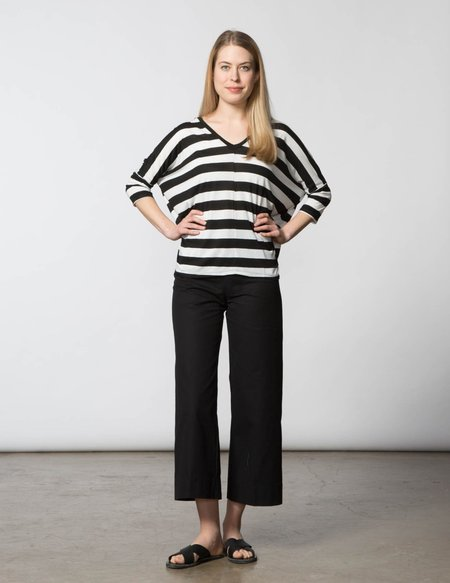 SBJ Austin Jan Top - Black & White Stripe