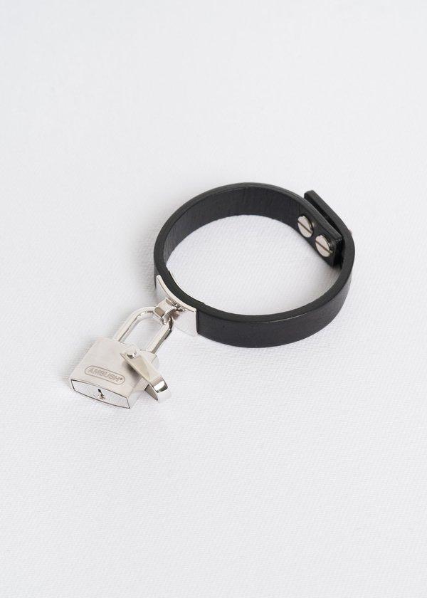 AMBUSH padlock bracelet cuff - Black ubWEbdIAm