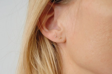 Rachel Gunnard 14k Gold Dot Earrings