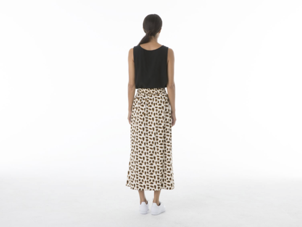 Ali Golden Drawstring Skirt