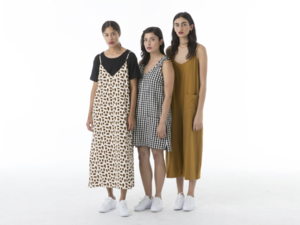 Ali Golden Tank Dress W/ Patch Pockets