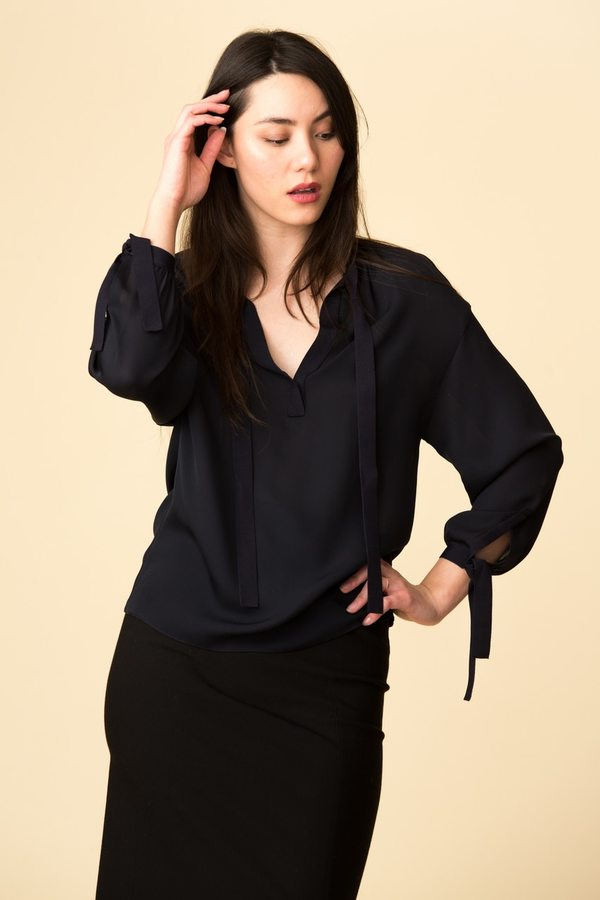 77101782844aaa Vince Tie Front Poet Blouse. sold out. VINCE