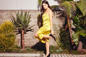 Kamperett Sade Slip Dress