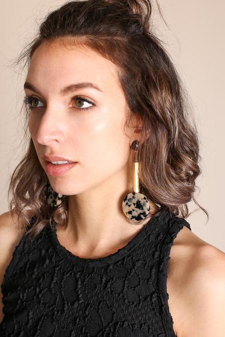 Rachel Comey Jo Earring in Dalmatian Gold