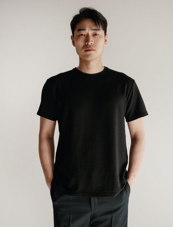 James Coward T-Shirt 004 - Bamboo Terry Black