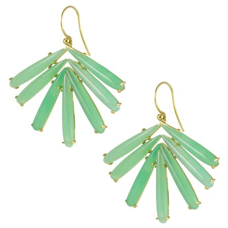 Irene Neuwirth Earrings - Chrysoprase Cluster