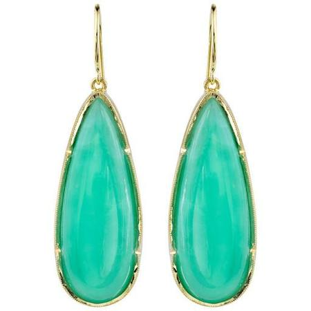 Irene Neuwirth Earrings - Rose-Cut Chrysoprase