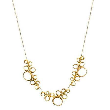 Ten Thousand Things Necklace 18K Gold Triple Ovals Choker
