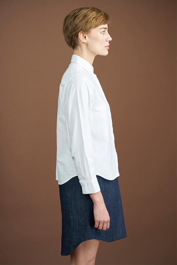 Elise Ballegeer Open-Collar Shirt - white