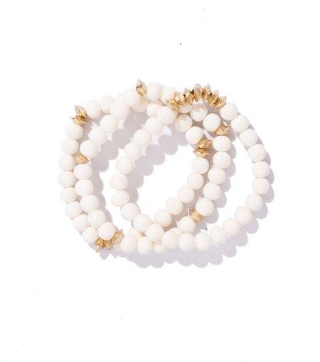 Akola Nile White and Gold Bracelet