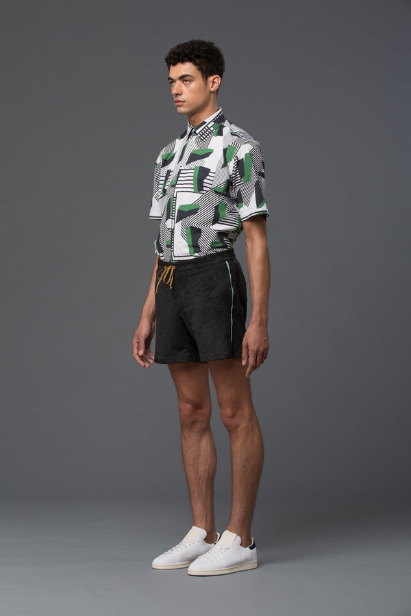 THADDEUS O'NEIL - Ultrasuede Board Short -­ Black Multi