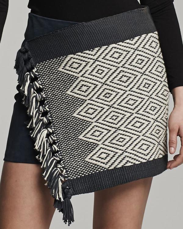 VOZ Apparel Diamante Mini Wrap Skirt