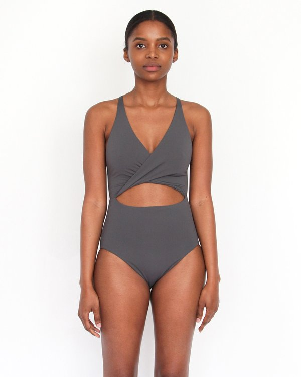 Esby MARIA CUT OUT ONE-PIECE - SLATE