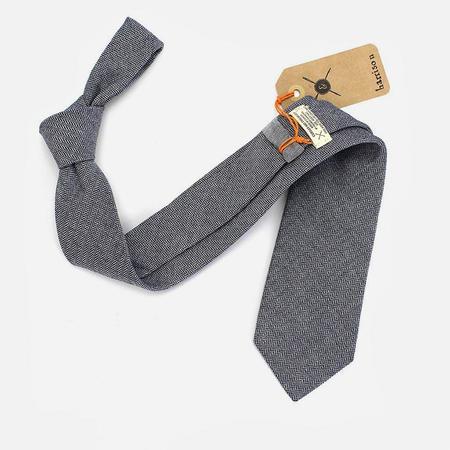 Cursor & Thread Harrison Herringbone Necktie - Midnight Blue