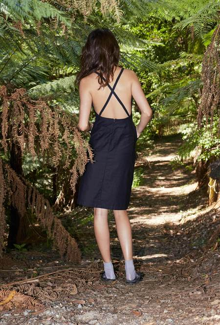 P&V Clean Utility Dress - Black