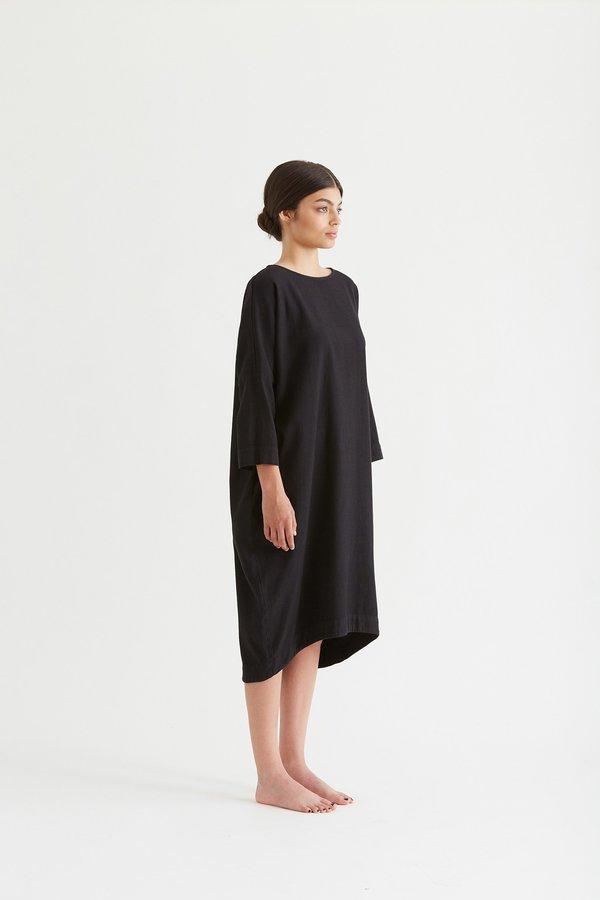 Black crane bud dress