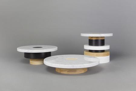 Souda Sass Set of 3 Pedestals