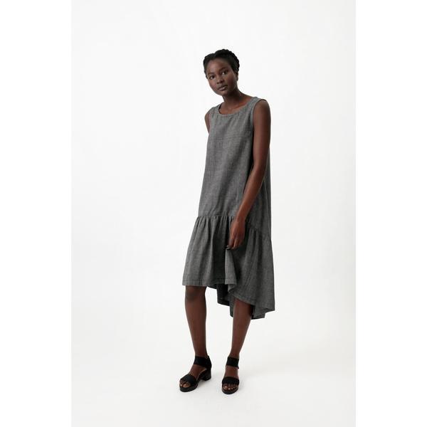 Osei-Duro Cascade Dress in Pewter