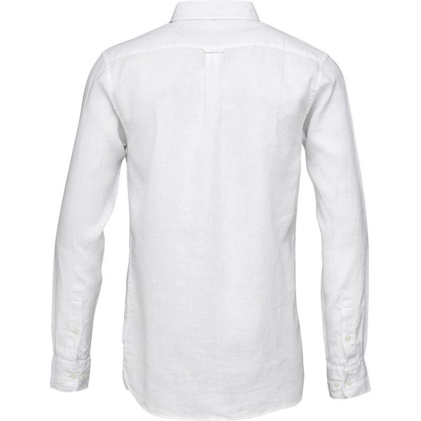 knowledge cotton apparel Fabric dyed linen shirt - bright white